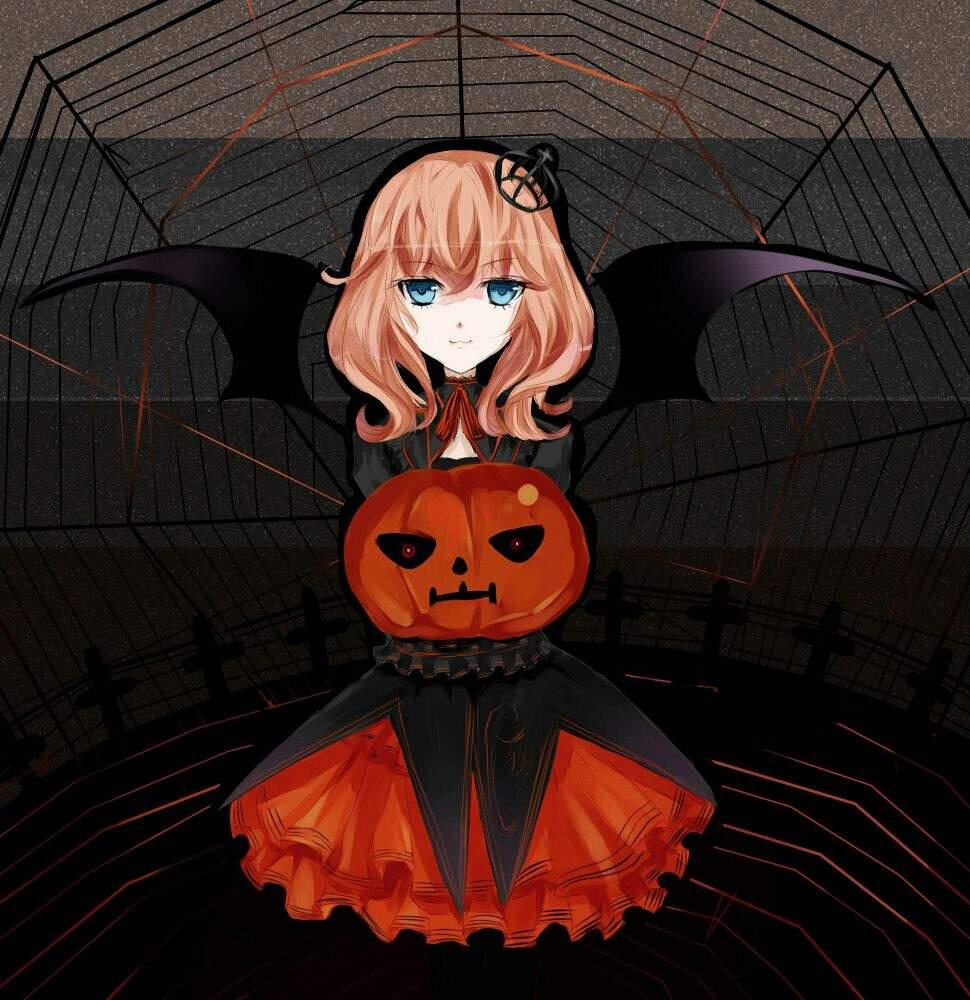 Картинки хэллоуин аниме страшные
