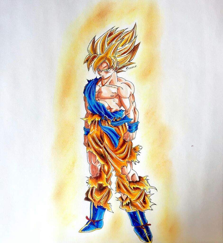 Super Saiyan Goku Drawing Dragonballz Amino