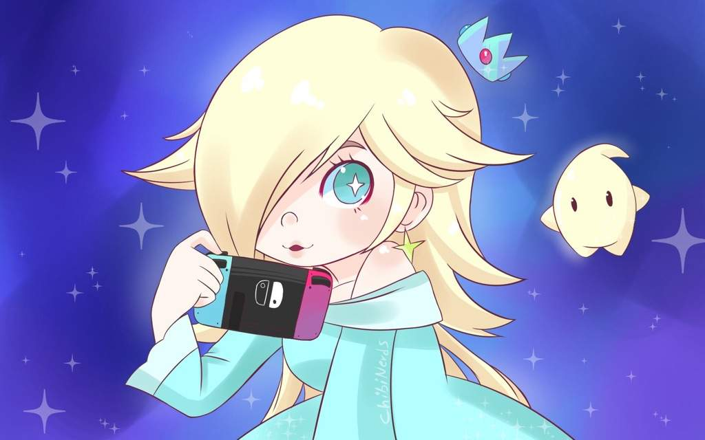 Drew Chibi Rosalina Luma With Nintendo Switch Mario Amino