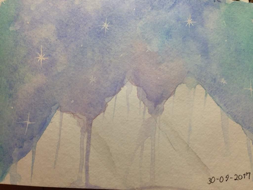 Galaxy Northern Lights Drawing