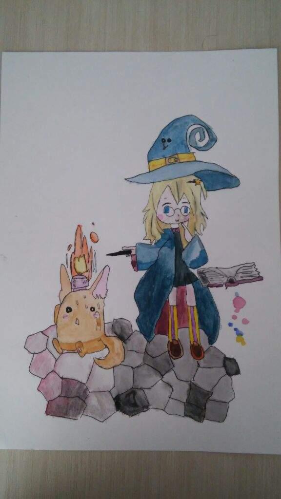 MiPropioArte Dibujo de Halloween Brujita hecha a acuarela (sacada de ...
