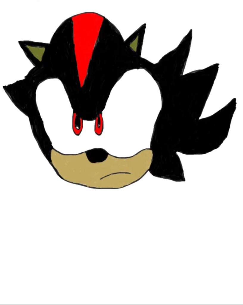 My Drawing Of Shadow Bad Just The Head Sonic The Hedgehog Amino