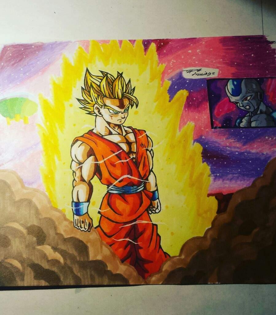 Goku Shows Frost Super Saiyan 2 Drawing Dragonballz Amino
