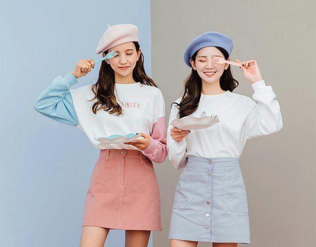Bergaya Flirty Cute ala Cewek Korea dengan Pastel Outfit