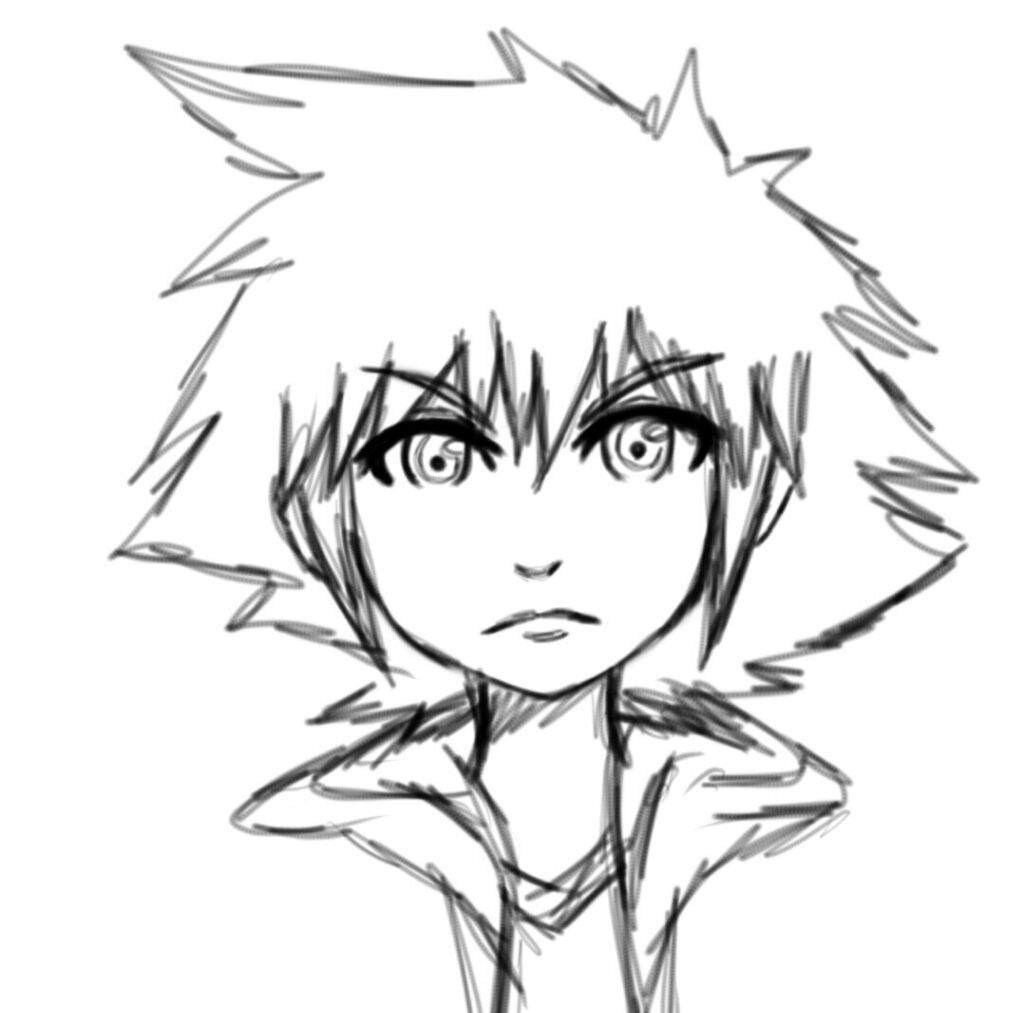 A Random Sora Drawing Kingdom Hearts Amino