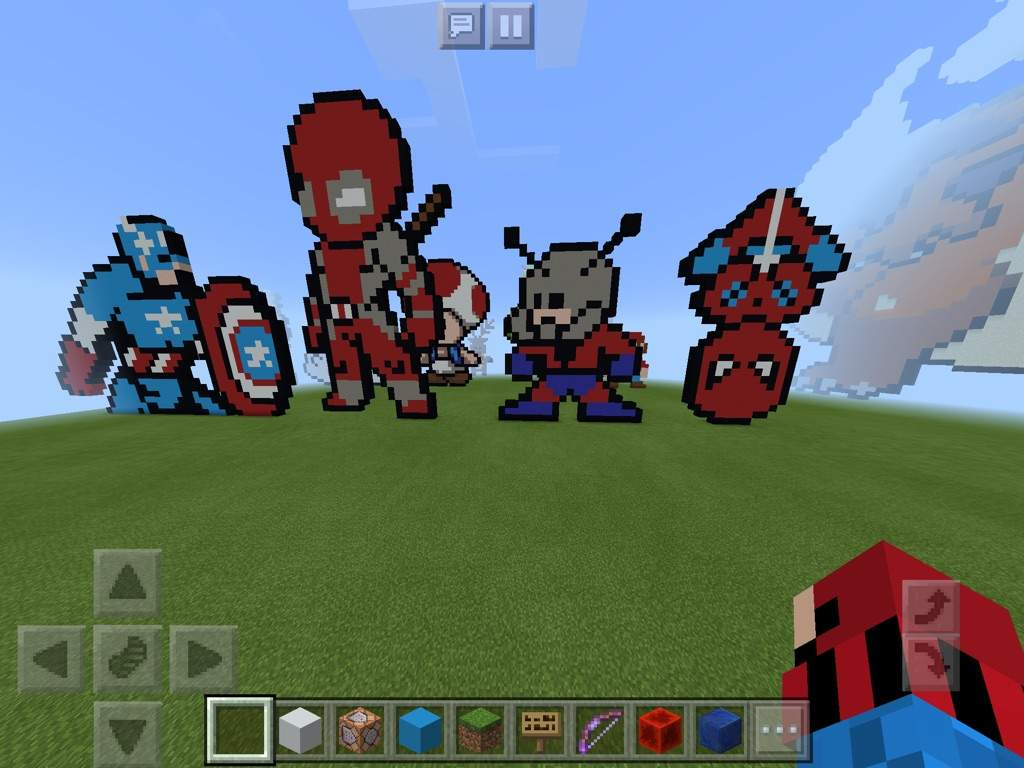 First We Start Of With Some Marvel Superhero Pixel Art Which I Thought Was  Really Cool Especially The Spider Man.