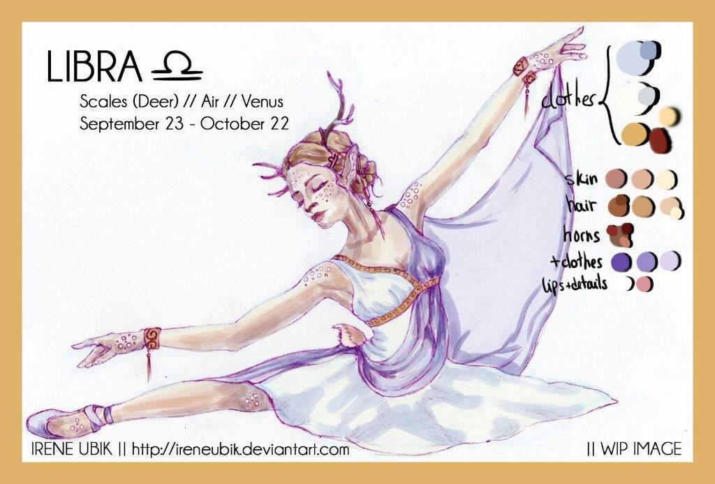 Libra ♎️ - 12 Zodiac Ladies (Lineart & Color Palette