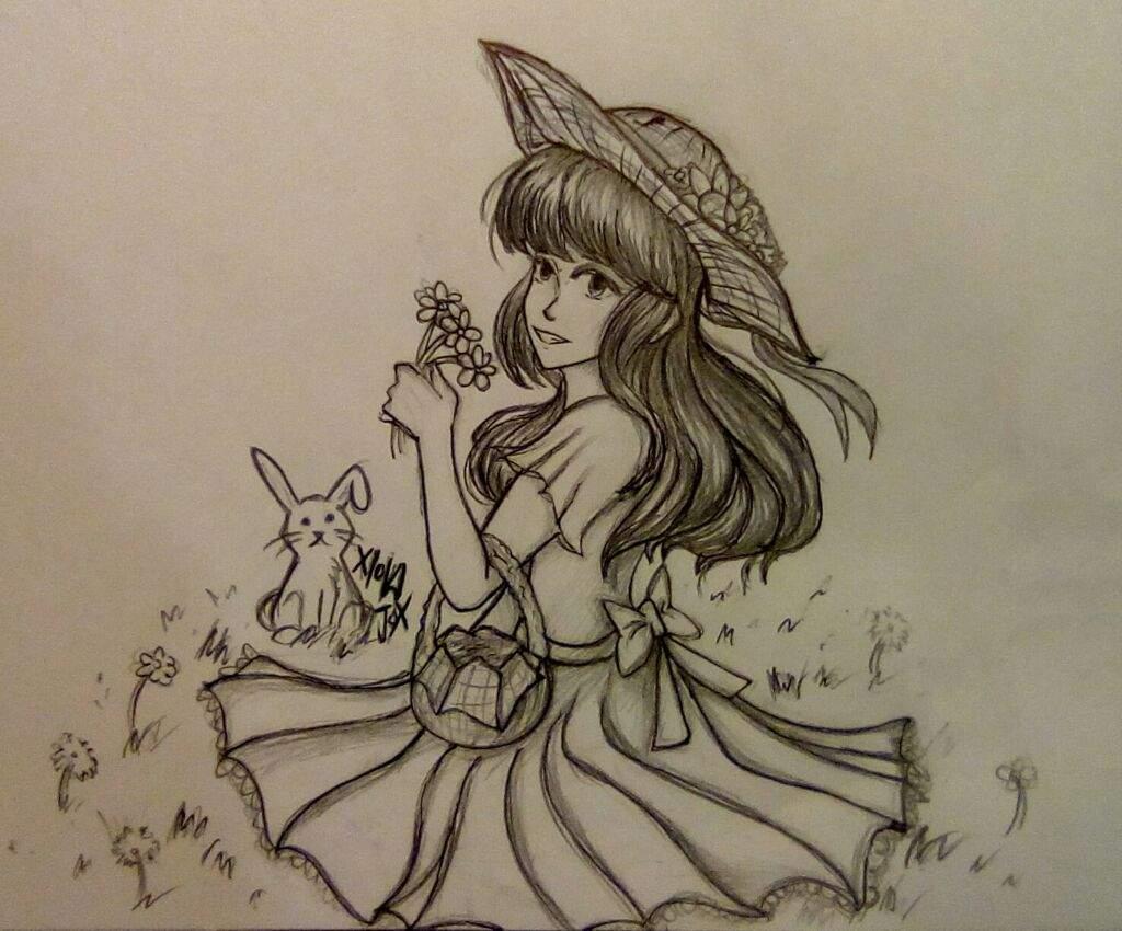Girl in the garden | Arts And OCs Amino