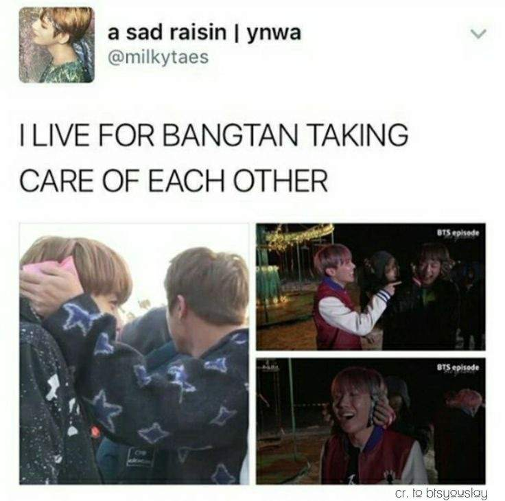 Take Care Of Each Other: BTS Taking Care Of Each Other