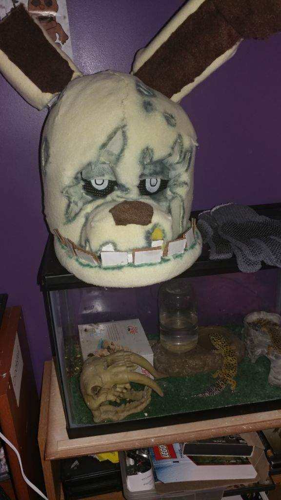 halloween costumespringtrap head five nights at freddys amino