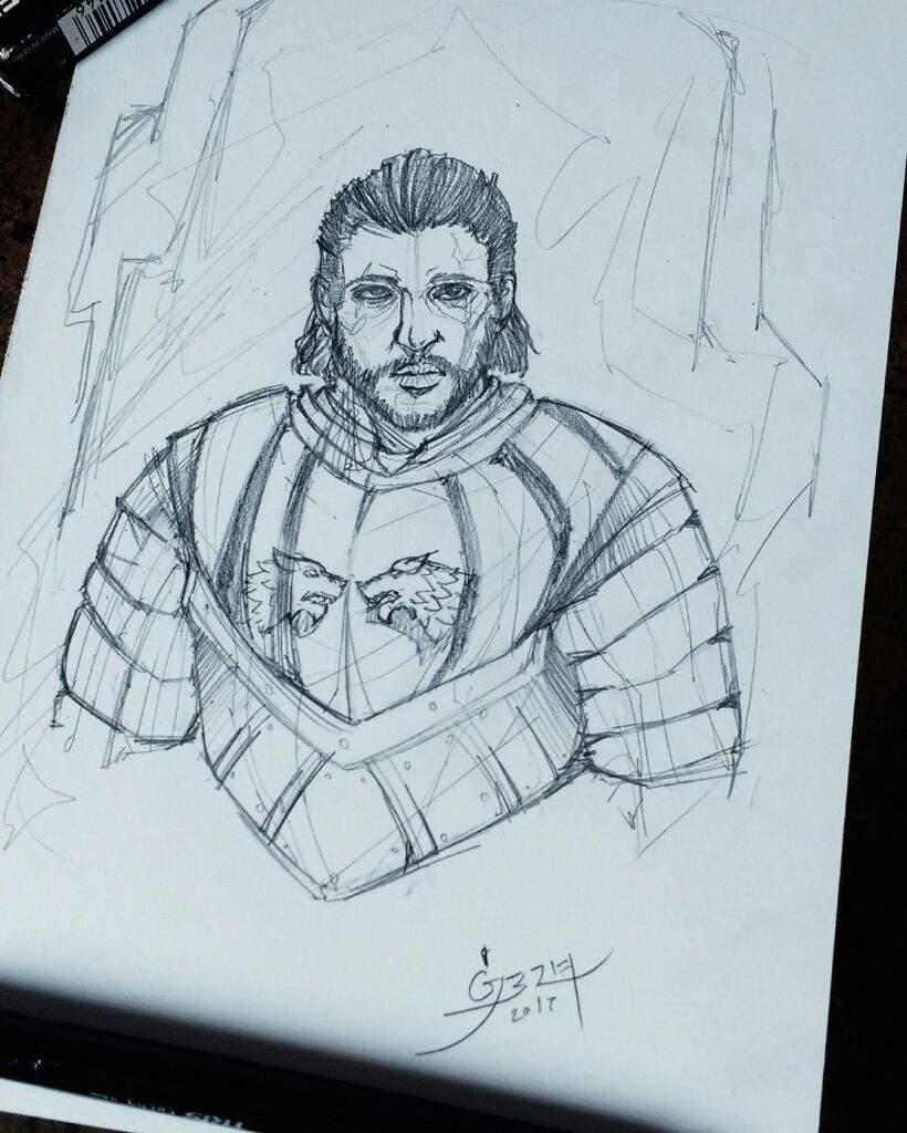 Jon Snow Sketch Game Of Thrones Br Amino