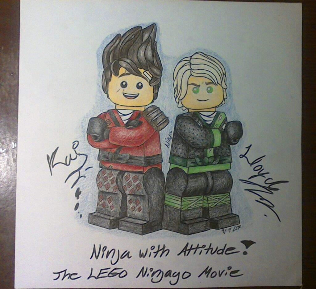 The lego ninjago movie lloyd and kai spinjitzu masters amino - Ninjago lloyd and kai ...