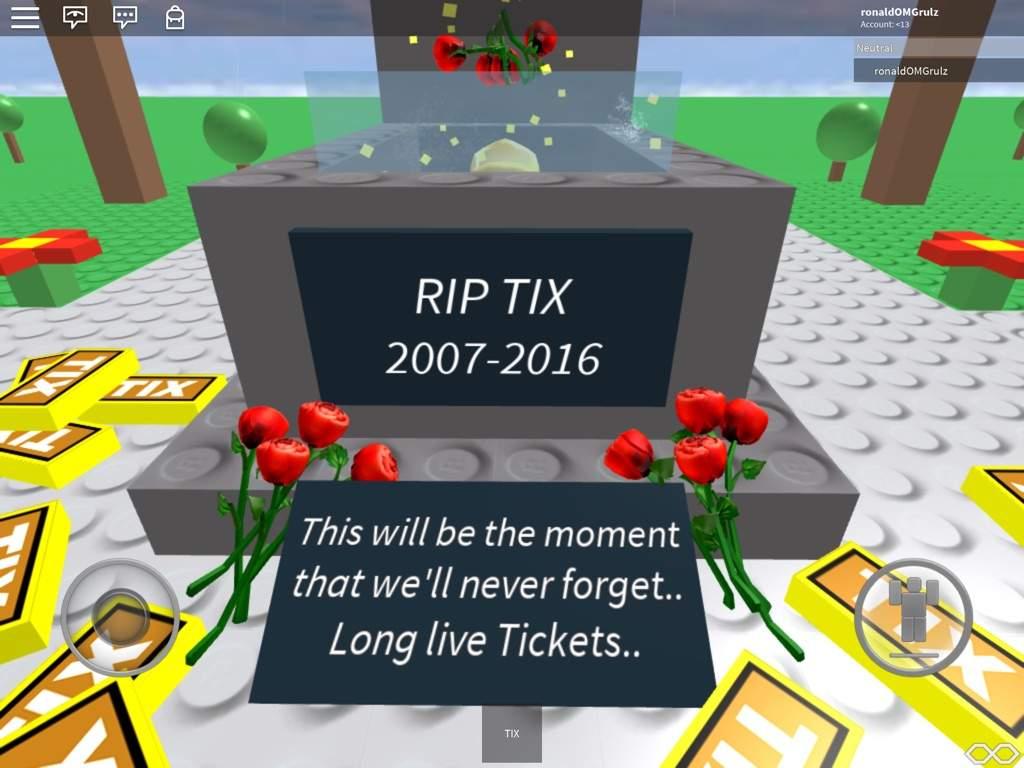 Rip tix 2007-2017   Roblox Amino