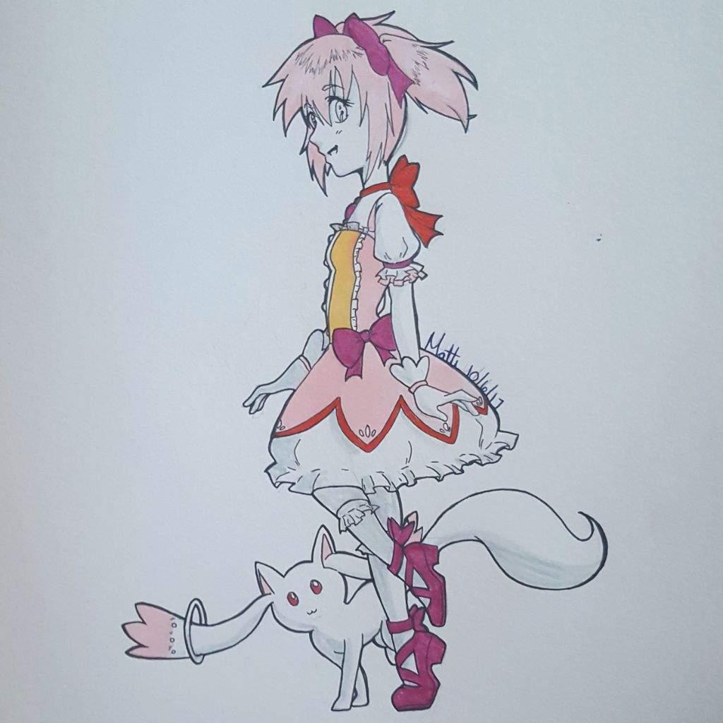 Inktober Day 6 Madoka Magica Anime Amino