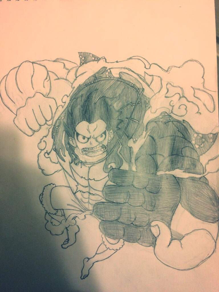 Incomplete Gear 4 Luffy Drawing One Piece Amino