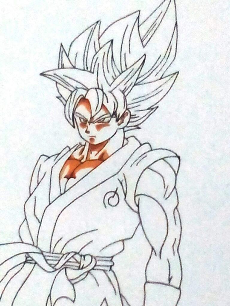Como Pintar a Goku SsjGssj | ⚡ Dragon Ball Super Oficial⚡ Amino