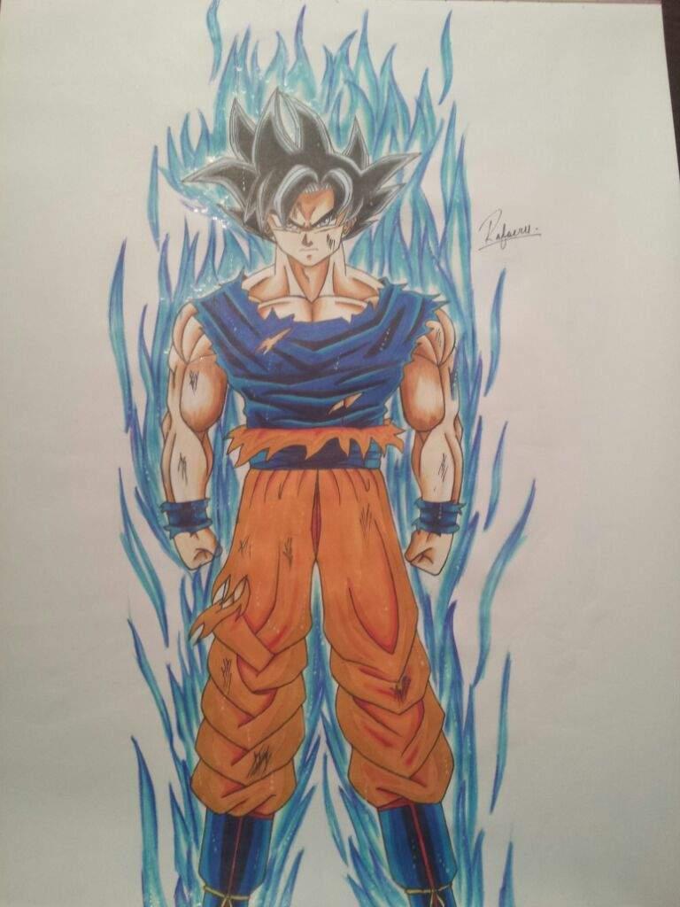 Drawing goku ultra instinct dragonballz amino - Goku ultra instinct sketch ...