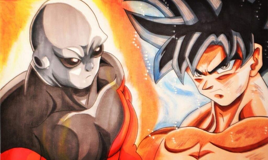 Dibujo de Goku migatte no gokui vs jiren   DibujArte Amino