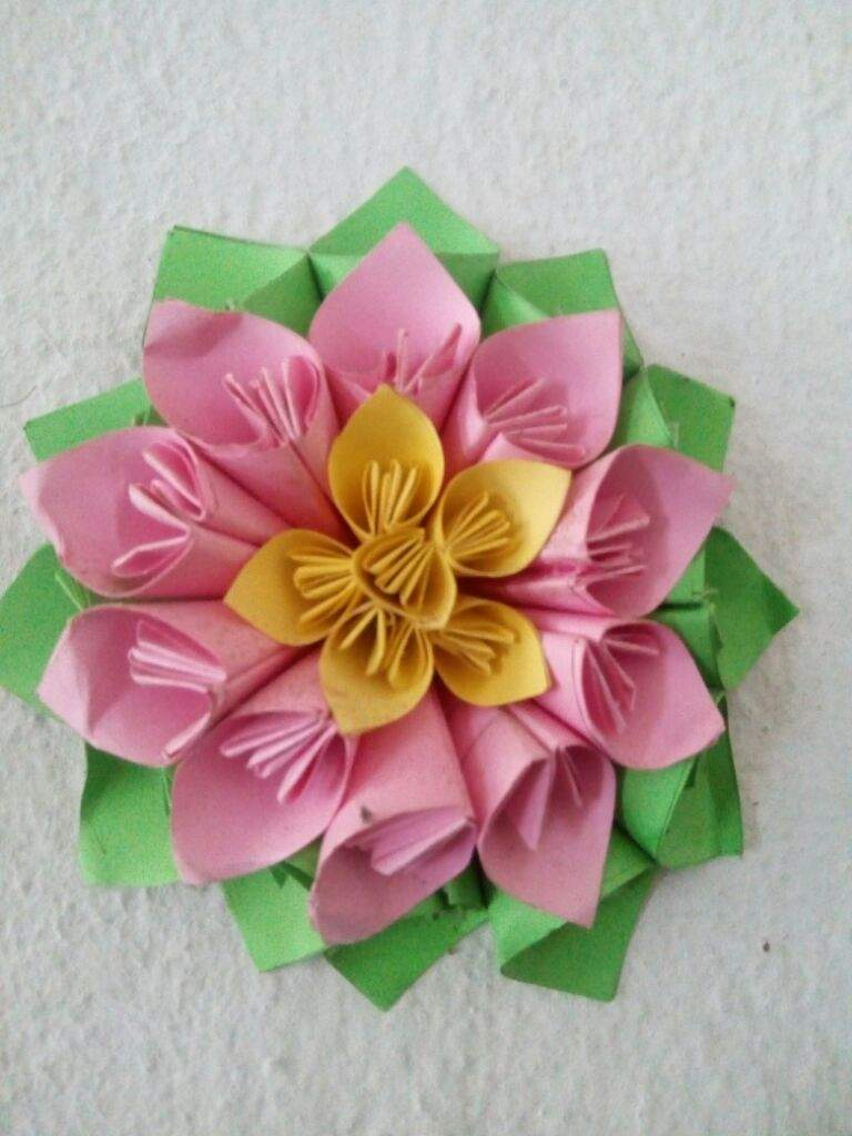 Paper Flowerde By Mer My School Origami And Paper