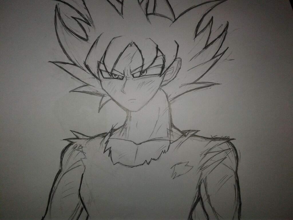 Ultra instinct goku limit breaker drawing dragonballz amino - Goku ultra instinct sketch ...
