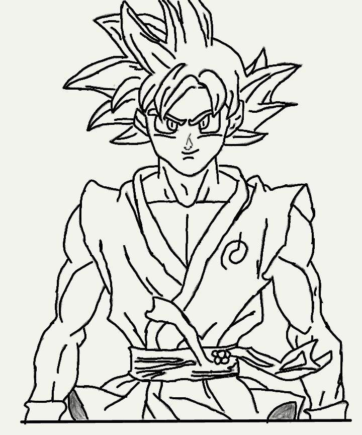 Desenho goku super saiajyn god dragon ball oficial amino - Pintura instinto ...