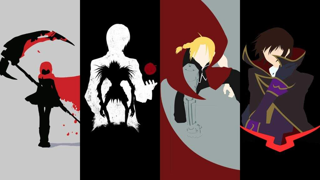 Image Deathnote FMA Code Geass And RWBY Wallpaper 1920x1080