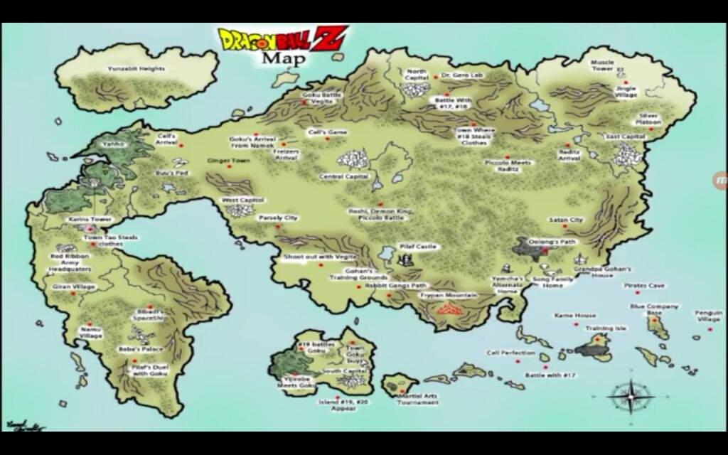 Mapa de todo drago ball dragon ball espaol amino gumiabroncs Images