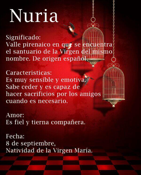 significado nombre nuria