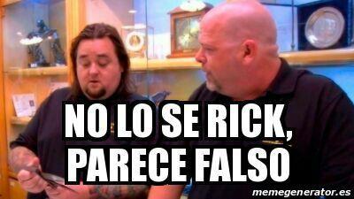 No lo c Rick Parece falso