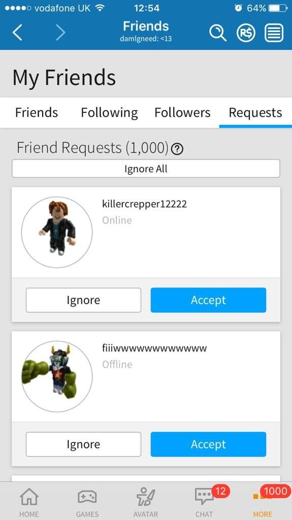 1000 Requests On Roblox Roblox Amino