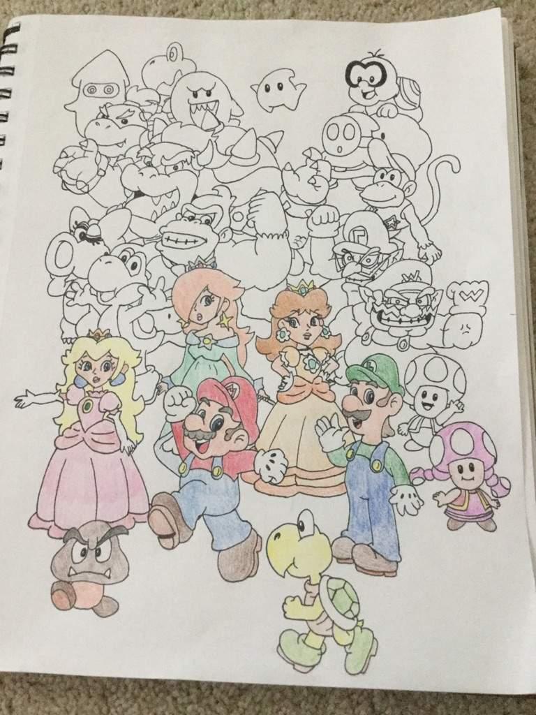 Mario Characters Drawing Mario Amino