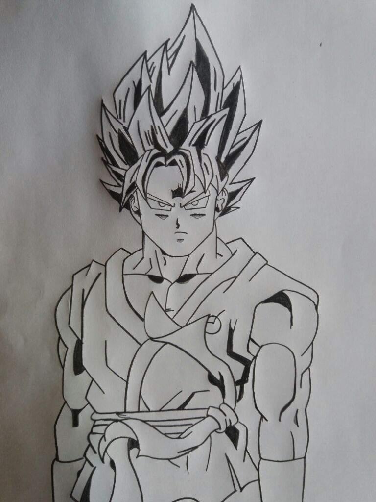 Meu Desenho Son Goku Blue Dragon Ball Super Comics Portugues