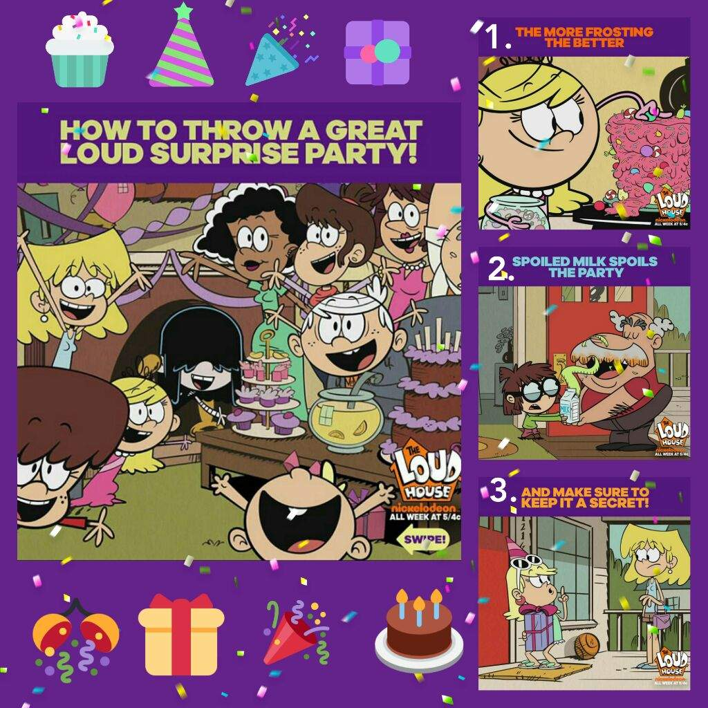 How To Throw a Surprise Party Ft The Louds The Loud House Amino