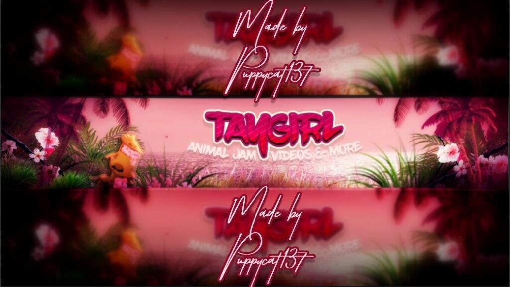 Taygirl's Channel Banner commission   AJ Amino Amino