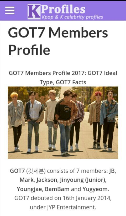 Got7 Members Profile Got7 Members Profile Updated 2018 Kpop Profile They had a comeback on the 12th of june. yugyeom got7 yugyeom got7 yugyeom