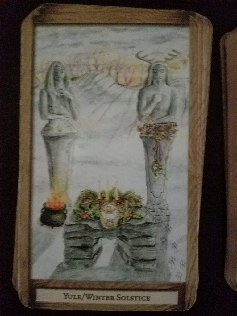 Rebirth Divination Card: Journeying With Divination Decks: Yule/ Winter Solstice