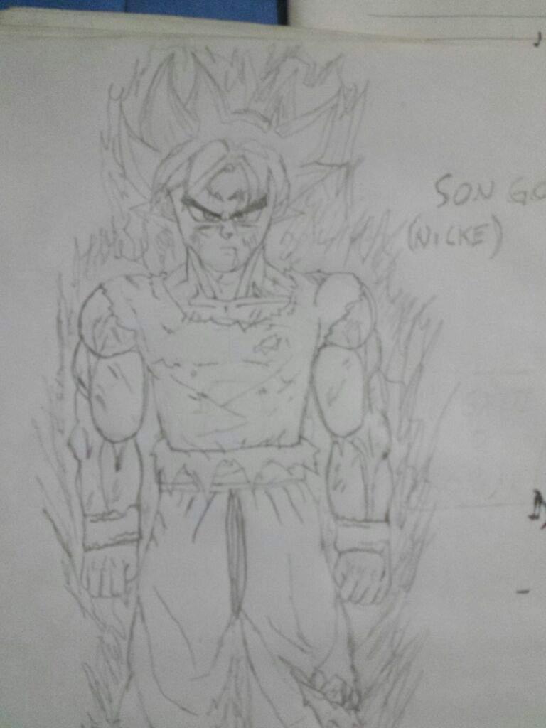 Meu Primeiro Desenho Na Comunidade Son Goku Instinto