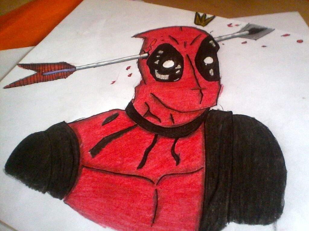 DEADPOOL!!no soy muy bueno para colorear. | •Arte Amino• Amino