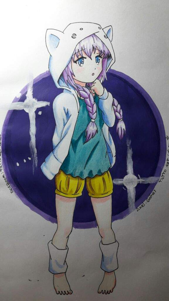 Dibujo De Girl Anime Echo Con Lapices Faber Castell Colores Tipo