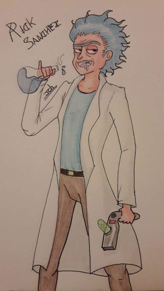 Rick Sanchez Lápiz Pastel Seco Rick Y Morty Amino