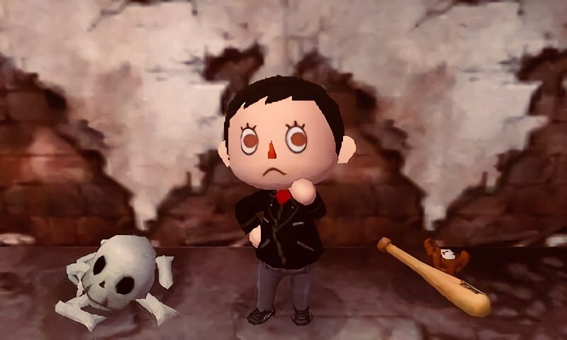 ... cool costumes lately so I decided to participate in Plutou0027s Halloween Costume Contest as well! Since Iu0027m dressing up as Negan for Halloween I figured ... & ?Costume Contest Entry? | Animal Crossing Amino
