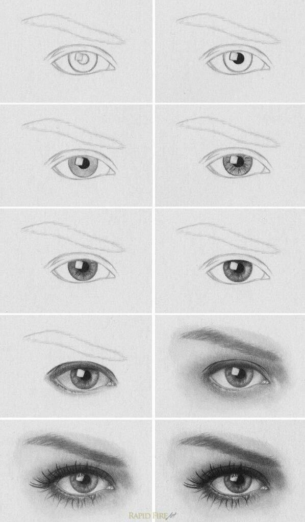 تعليم رسم العين الفن والرسم Amino