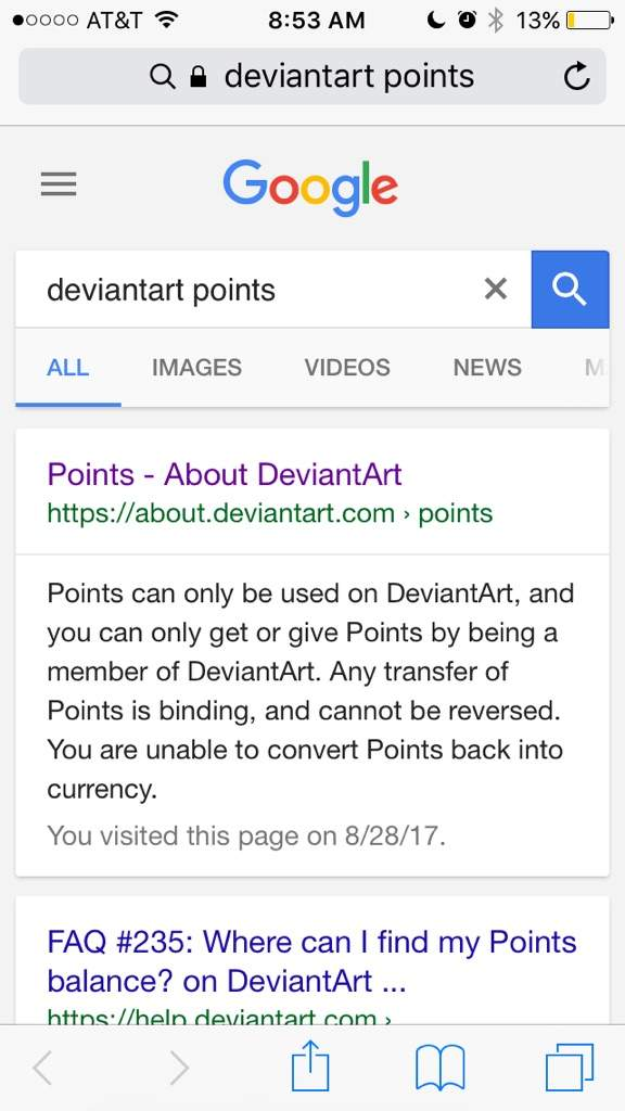 How to access deviantart points on mobile Devices! | Adopts
