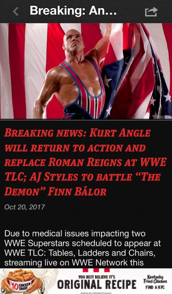 AJ STYLES AND KURT ANGLE TO BE WRESTLING AT TLC!!! | Wrestling Amino