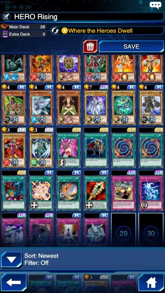 Hero Deck | Yu-Gi-Oh! Duel Links! Amino