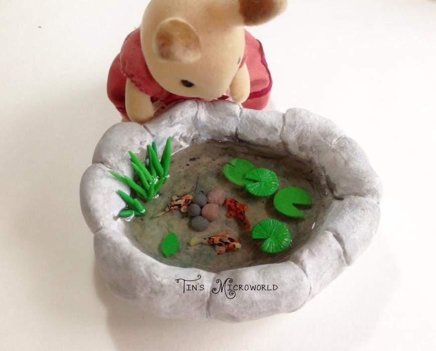 Miniature pond (my creation) #resin #polymerclay #CLIC14 | Crafty Amino