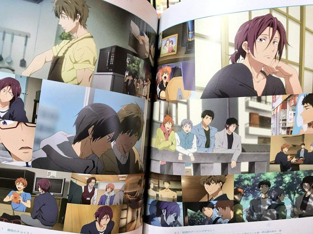 The Official Free Take Your Marks Movie Pamphlet Haru Is Driving Ahh So Grown Up Makoto Learning To Cook He Was Bad