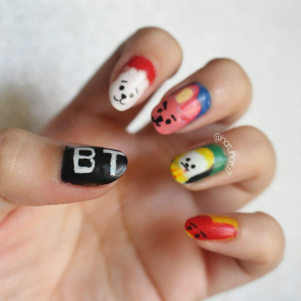 BT21 character nail art ~ | ARMY\'s Amino