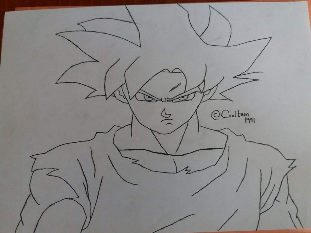 He 39 s coming ultra instinct goku drawing dragonballz amino - Goku ultra instinct sketch ...