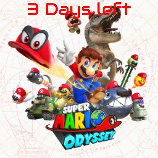 Super Mario Odyssey Countdown 3 Days Left Nintendo